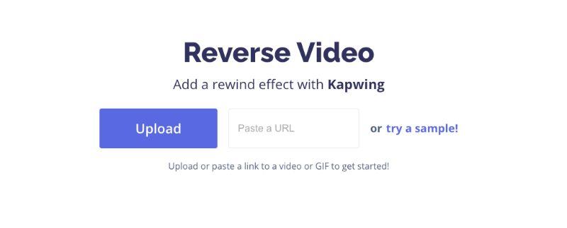 kapwing reverse video tiktok